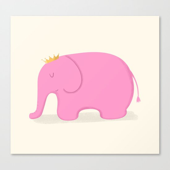 Queen Pink Elephant Canvas Print