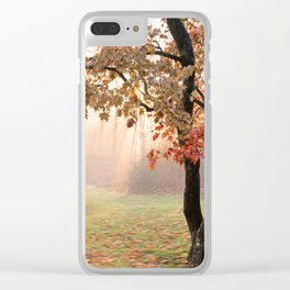 Japanese Maple at Sunrise in Fall Clear iPhone Case