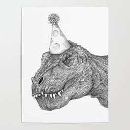 Party Dinosaur Poster