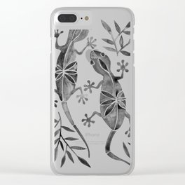 Geckos – Black Palette Clear iPhone Case