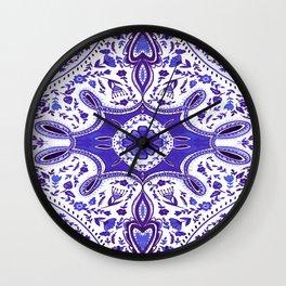 Ultra Violet Mandala Pattern Wall Clock