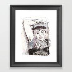 Pitstain. Framed Art Print