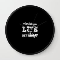 quotes Wall Clocks featuring Life Quotes by Silvia Marquez
