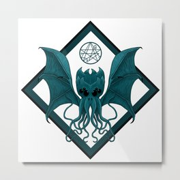 Cthulhu - Lovecraft - The Great Old One Metal Print