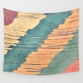 Abstract Shredded Stripes Wall Tapestry