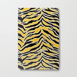 Tiger Print - Mustard Yellow Metal Print