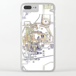 Mechanical Diagram Clear iPhone Case