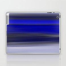Dark Night Seascape Abstract In Blue Laptop & iPad Skin
