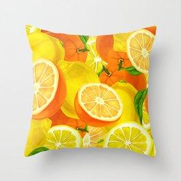Tropical Fruits Pattern Throw Pillow