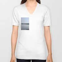 lake V-neck T-shirts featuring Lake  by Hichamus Curator