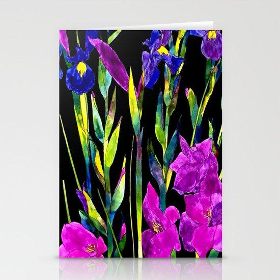 black iris Stationery Cards