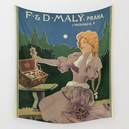 Vintage Jewelry shop Prague ad Wall Tapestry