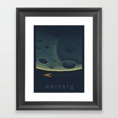 MERCURY Space Tourism Travel Poster Framed Art Print