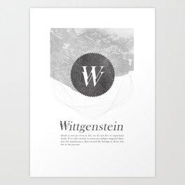 Wittgenstein Art Print