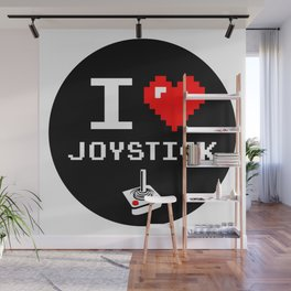 I Love Joystick, Arcade, Gamer sticker Wall Mural