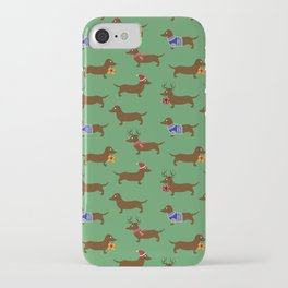 Dachshund at Christmas  iPhone Case
