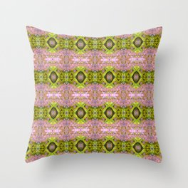 Eccentric purple and yellow pattern Throw Pillow
