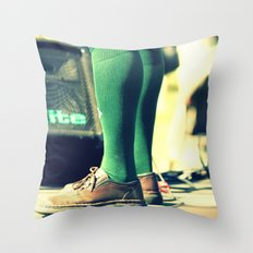 Green socks Throw Pillow