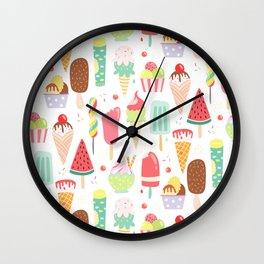 Ice Dream Wall Clock