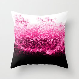 Pink Water Splash Throw Pillow