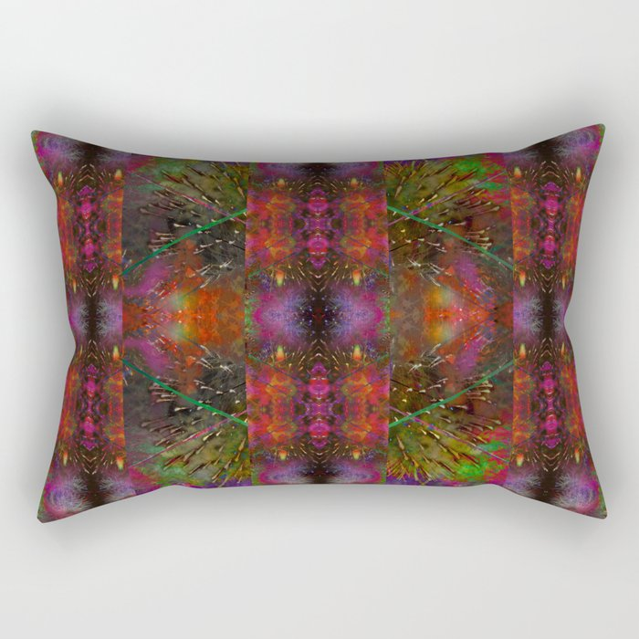 Pyrotechnic Pattern Rectangular Pillow