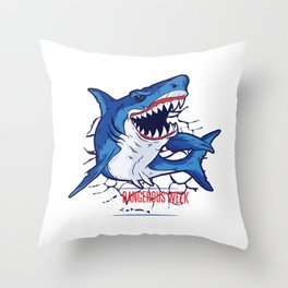 Shark quote Throw Pillow