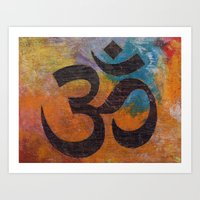 om Art Prints featuring Om by Michael Creese