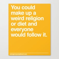 Weird Religion Canvas Print
