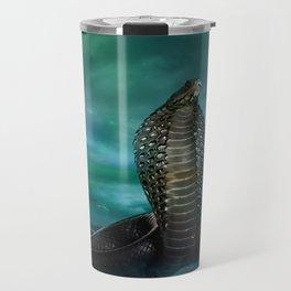 Egyptian Cobra Digital Art Travel Mug