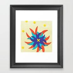 Fireworks Flower Framed Art Print