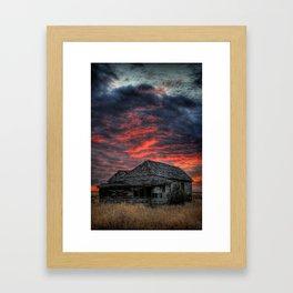 Shake House in Sunset Framed Art Print