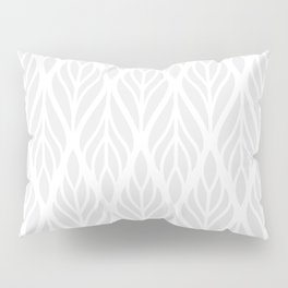 Grey Abstract Paisley Feathers Pillow Sham