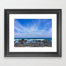 sky and sea Framed Art Print