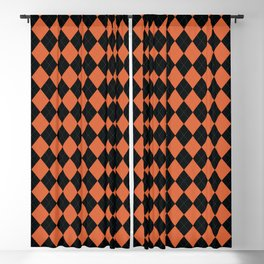 Argyle -Orange Blackout Curtain
