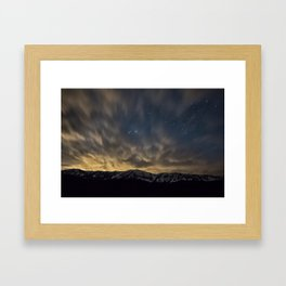 Meteor Over The Bridgers Framed Art Print