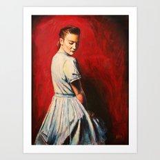 Sarah in a Blue Dress Art Print