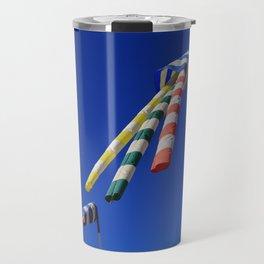 Colorful Flying Wind Flags in Knokke Travel Mug