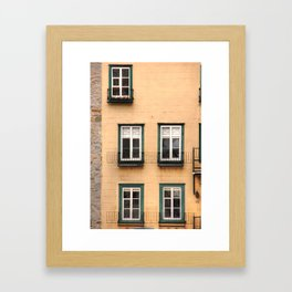 Green Windows Framed Art Print