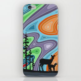I Met My Deerest by the Forest's Edge iPhone Skin