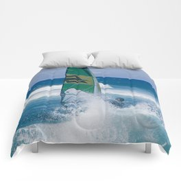 Hookipa Windsurfing North Shore Maui Hawaii Comforters