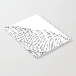 Palm Leaves Finesse Line Art #1 #minimal #decor #art #society6 Notebook