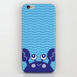 Blue Crabby Crab iPhone Skin
