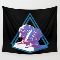 daft punk Wall Tapestries featuring Daft Punk: Daft Deco by JoPruDuction Art