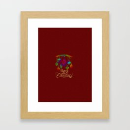 Rainbow Christmas Balls Merry Christmas Framed Art Print