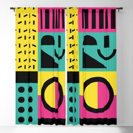 Neo Memphis Pattern 2 - Abstract Geometric / 80s-90s Retro Blackout Curtain