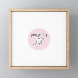 Mouse Rat Framed Mini Art Print