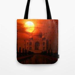 Taj Mahal Sunset Tote Bag