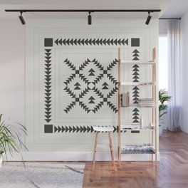 Black and White Quilt Block Wall Mural