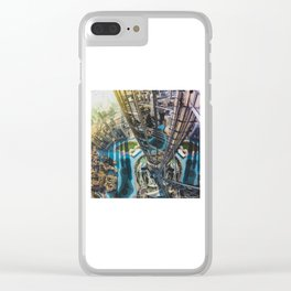 Dubai from the tallest building in the world Clear iPhone Case