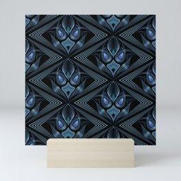 Art Deco 37. Black-blue satin . Mini Art Print